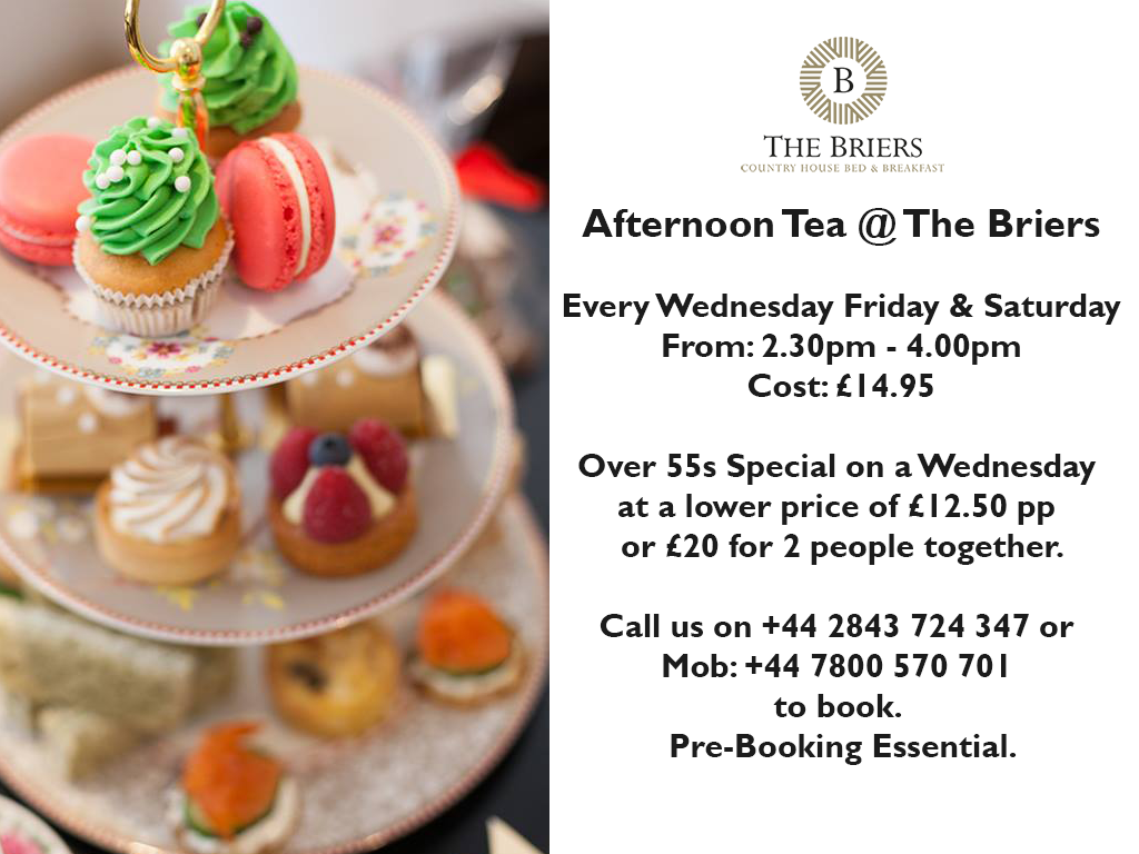 Afternoon Teas at The Briers