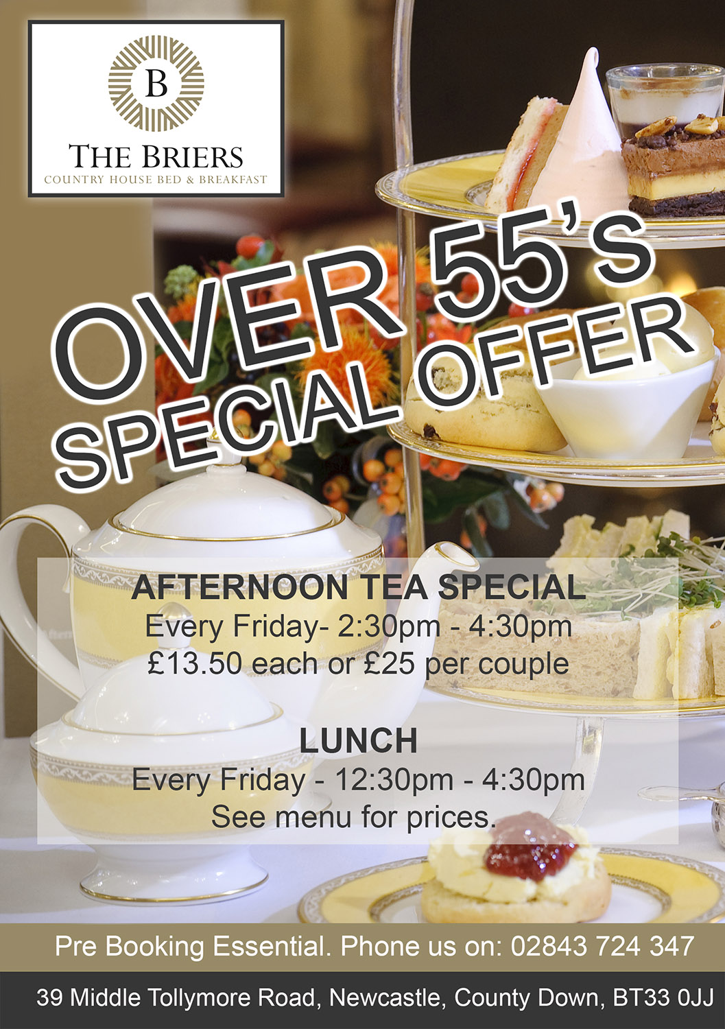 over 55s special offer the briers 2019